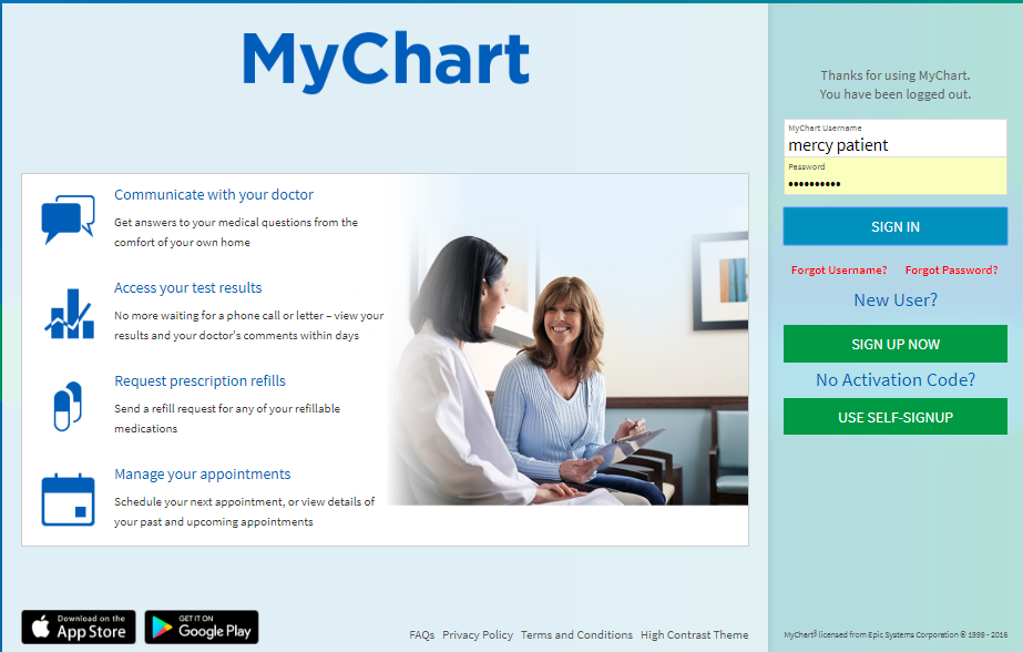 Mercy Health Mychart Patient