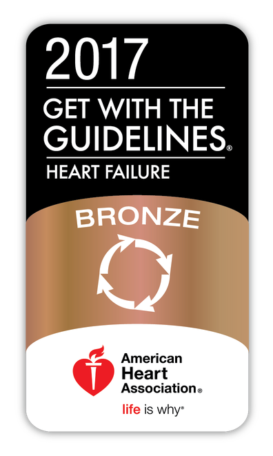 Get With The Guidelines®-Heart Failure Bronze Quality Achievement Award